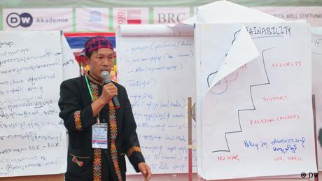 Konferenz Enthnischer Medien Myanmar Speaker (DW)