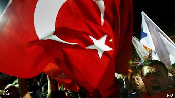 Supporter of new elected Turkish Cypriots