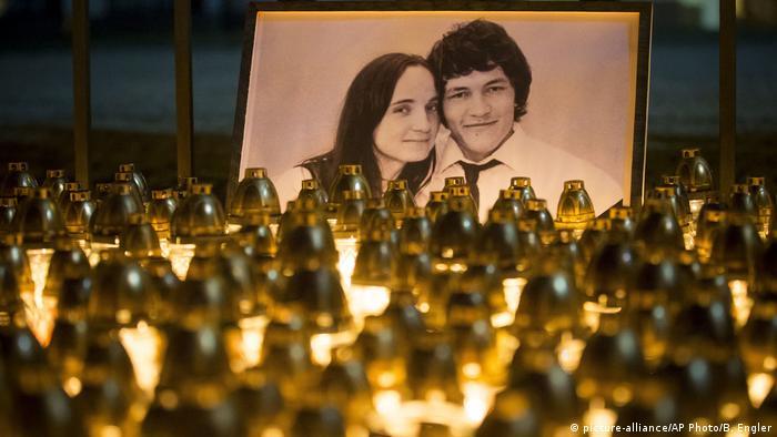 Tributes to murdered Slovakian investigative journalist Jan Kuciak and his fiancee Martina Kusnirova