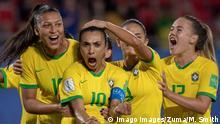Brasilien Frauenfußball Nationalmannschaft Jubel