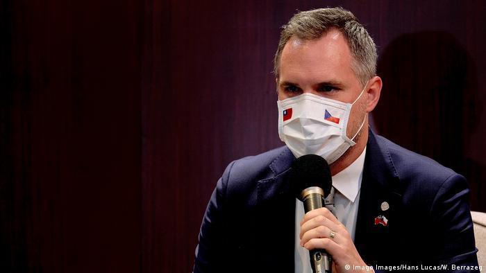 Taiwan Taipeh Pressekonferenz Zdenek Hrib Bürgermeister von Prag