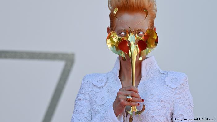 BdTD | Italien Venedig Film Vestival | Tilda Swinton (Getty Images/AFP/A. Pizzoli)
