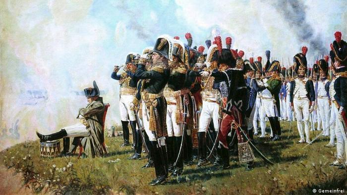 Gemälde Napoleon bei Borodino von Wassili Wereschtschagin