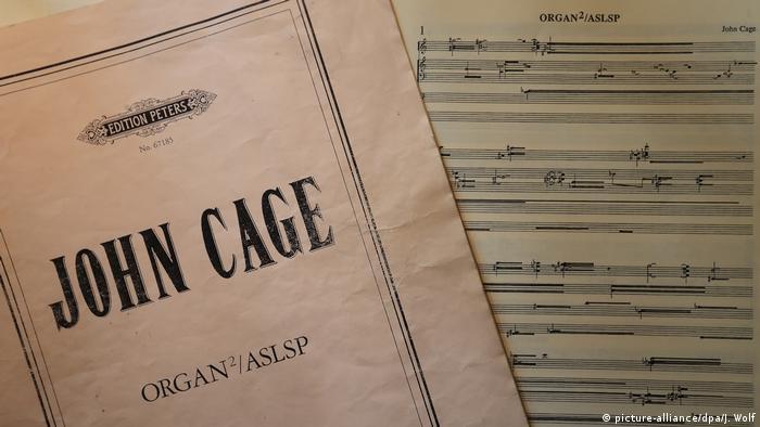 Music score John Cage 'Organ2/ASLSP (As Slow As Possible)'