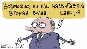 Карикатура про Путина и санкции