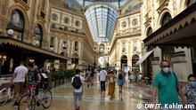 Mailands Prachtgalerie im Pandemie-Modus Aufnahme: August 2020.
