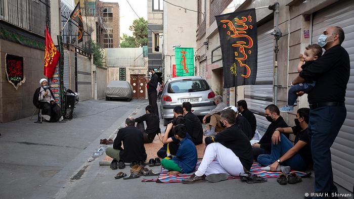 صحنهای از عزاداریهای ماه محرم در ایام شیوع کرونا در ایران