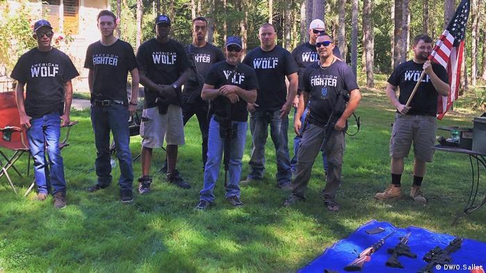 USA I US-Miliz American Wolf in Olympia, Washington (DW/O.Sallet)
