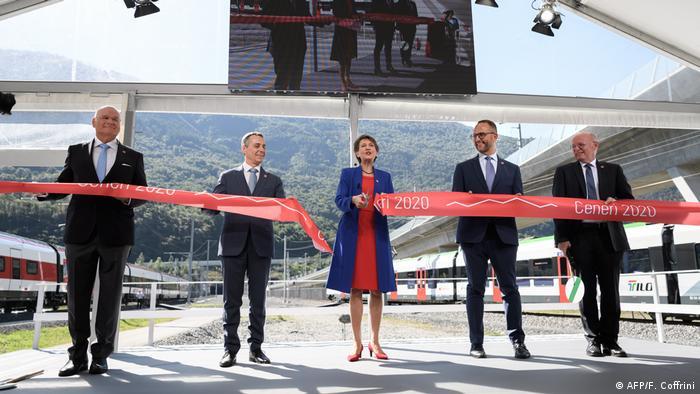 Schweiz Eröffnung Ceneri-Basistunnel CBT (AFP/F. Coffrini)