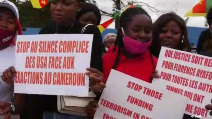 Cameroonians demonstrate against US silence on violence in Cameroon