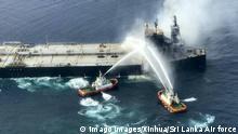 Sri Lanka Brand auf Öltanker New Diamond