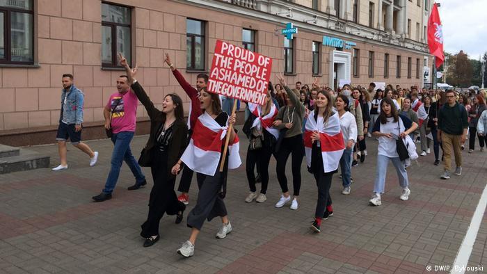 Студенти йдуть на акцію протесту в Мінську