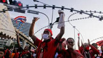 Some 850 Red Shirts are currently in jail after being accused of inciting violence