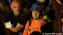 Francisco Lermanda, a member of the Chilean team attends a press conference after digging through the rubble of buildings which collapsed by the explosion at the city's port area, after signs of life were detected, in Gemmayze, Beirut, Lebanon September 5, 2020. REUTERS/Mohamed Azakir