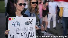Belarus Protest der Opposition in Minsk