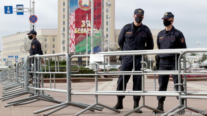 Силовики оточили центр Мінська, де запланована акція протесту проти Олександра Лукашенка