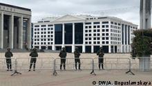 Belarus Minsk Sicherheitskräfte im Stadtzentrum