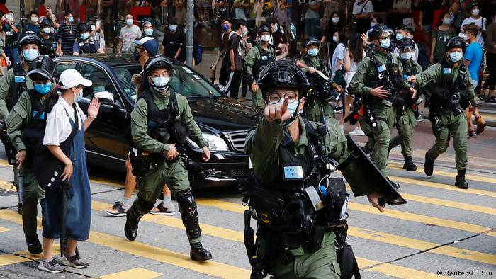 Protests against Beijing in Hong Kong