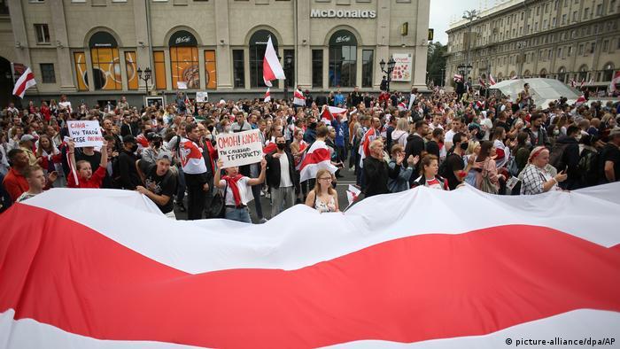 Протестна демонстрація в Мінську, 6 вересня 2020 року