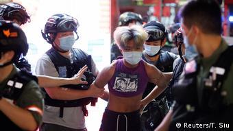 Hongkong Demonstration gegen verschobene Wahlen (Reuters/T. Siu)