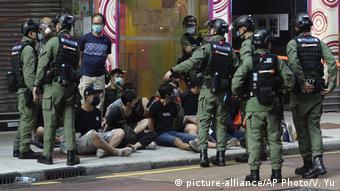 Задержания в Гонконге на протесте 6 сентября