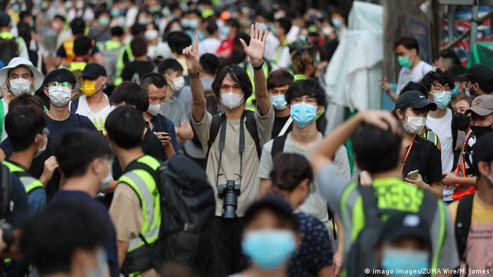 Hongkong Demonstration gegen verschobene Wahlen (imago images/ZUMA Wire/M. James)