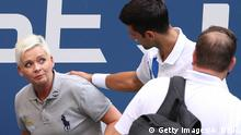 US Open 2020 Pablo Carreno Busta vs Novak Djokovic Linienrichter Treffer