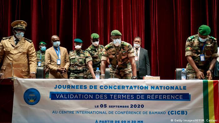 Mali CNSP Gespräche Putsch Malick Diaw (Getty Images/AFP/M. Cattani)