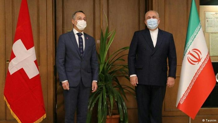 Iran Teheran Ignazio Cassis und Mohammad javad Zarif