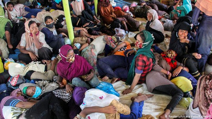 Indonesien Provinz Aceh Geflüchtete Rohingya (Reuters/Antara Foto/Rahmad)