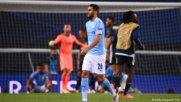 UEFA Champions League | Manchester City vs. Olympique Lyon | Riyad Mahrez