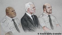 Großbritannien London |Gericht Old Bailey | Prozess Julian Assange |Zeichnung