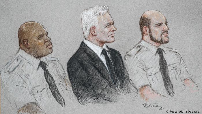 Großbritannien London  Gericht Old Bailey   Prozess Julian Assange  Zeichnung (Reuters/Julia Quenzler)