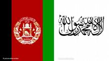 Bildkombo Flaggen Afghanistan / Taliban