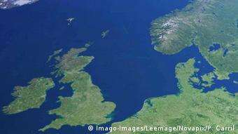 Вид из космоса на Северное море