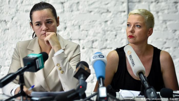 Swetlana Tichanowskaja und Maria Kolesnikowa