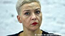 Belarus Maria Kolesnikowa, Oppositionspolitikerin