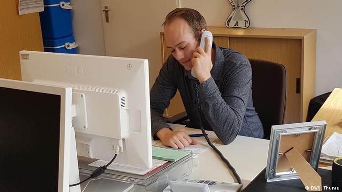 Berlin Gesundheitsberater Fabian Fischbach (DW/J. Thurau)