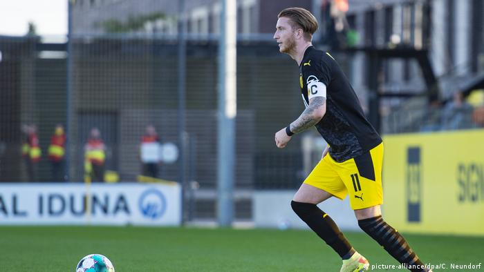 Marco Reus on the ball in his comeback from injury