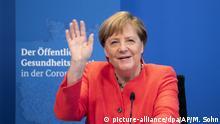 Virtuelle Konferenz Bundeskanzlerin Merkel zur Corona-Pandemie