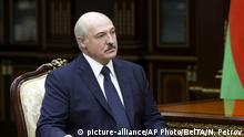07.09.2020 ***Belarusian President Alexander Lukashenko listens to the head of the Investigative Committee Ivan Naskevich during their meeting in Minsk, Belarus, Monday, Sept. 7, 2020. (Nikolai Petrov, BelTA via AP) |