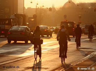 Radfahrer im Abendlicht (Foto: kk.dk)