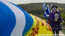 YES Bewegung Demonstration, Edinburgh, Schottland