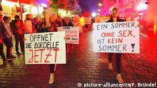 Deutschland Prostituierte demonstrieren auf dem Kiez