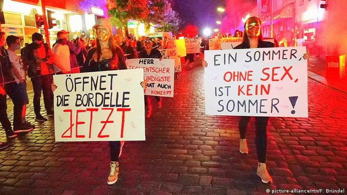 Protests in Hamburg against closure of brothels