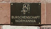 Deutschland Schild Burschenschaft Normannia Heidelberg