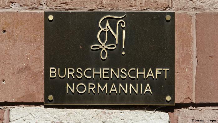 A sign for the German fraternity Burschenschaft Normannia Heidelberg