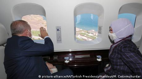 Erdogan au bord du Lac de Van