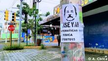 Nicaragua I Plakate Präsident Daniel Ortega