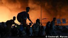 Griechenland, Lesbos: Brand im Flüchtlingslager Moria
